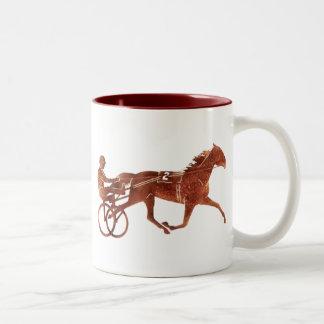 Brown Pacer Silhouette Two-Tone Coffee Mug