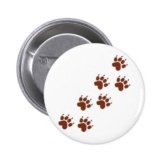 brown pad traces icon pinback button