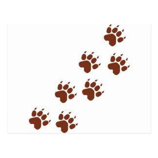 brown pad traces icon postcard