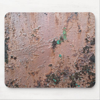 Brown Paint Rusted Metal Pattern Mouse Pad