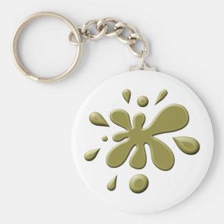Brown Paint Splodge Keychain