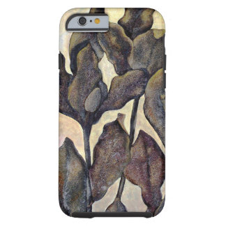 Brown Painted Leaves Iphone 6 Case