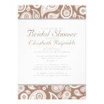 Brown Paisley Bridal Shower Invitations Personalized Announcements