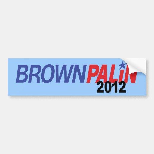 Brown Palin 2012 Bumper Stickers