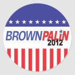 Brown Palin 2012 Pegatinas Redondas
