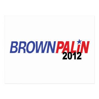 Brown Palin 2012 Postcard