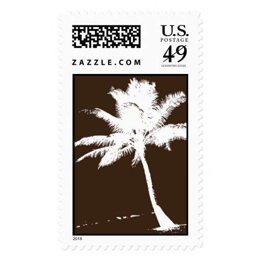 Brown Palm Tree Stamp