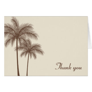 Brown Palm Trees Tropical Card