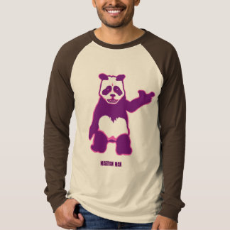 BROWN Panda Man Long Sleeve Raglan T-Shirt