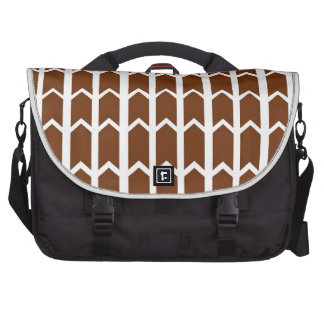 Brown Panel Fence Bag For Laptop