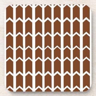 Brown Panel Fence Beverage Coaster