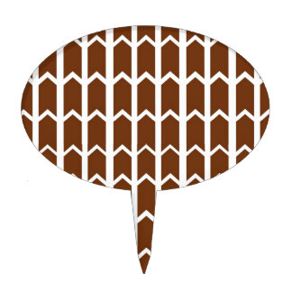Brown Panel Fence Cake Topper