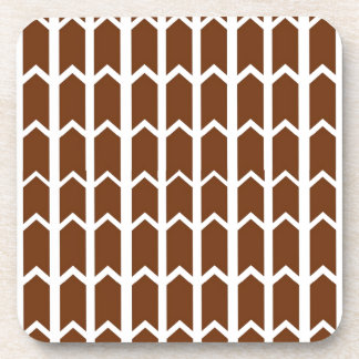 Brown Panel Fence Drink Coasters