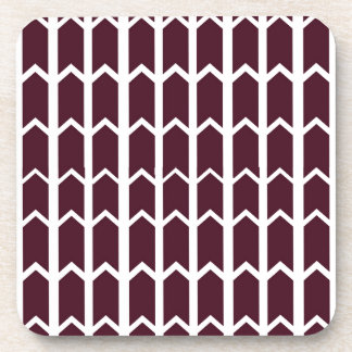 Brown Panel Fence Drink Coaster