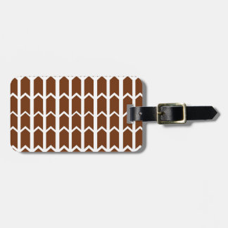 Brown Panel Fence Luggage Tag