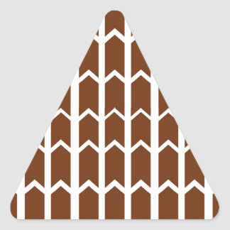Brown Panel Fence Triangle Sticker