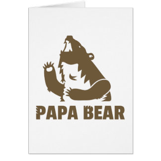 Brown Papa Bear Happy Fathers Day Card