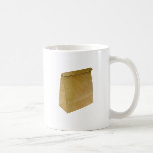 Brown paper bag classic white coffee mug