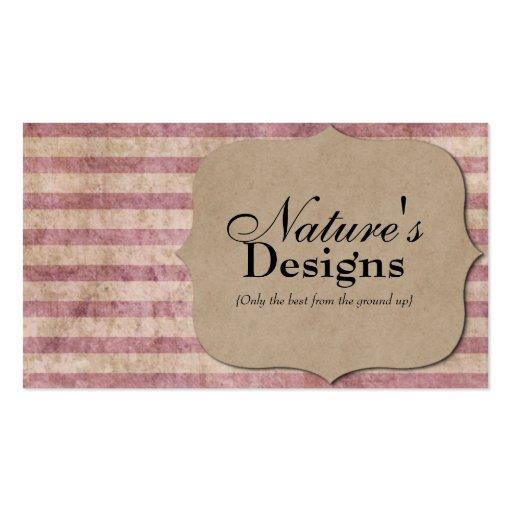 Brown paper bag pink stripes profile business card zazzle for Brown paper business cards