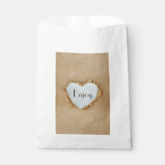 Brown Paper Bag Rustic Heart Wedding Party