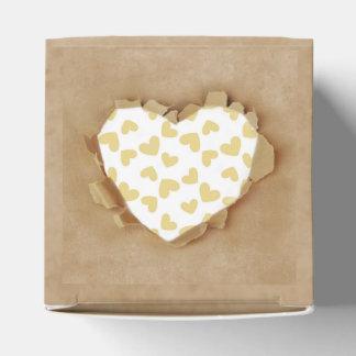 Brown Paper Bag Rustic Heart Wedding Party Favor Box