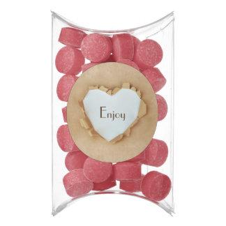 Brown Paper Bag Rustic Heart Wedding Party Gum