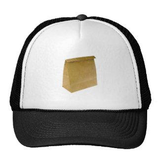 Brown paper bag trucker hat