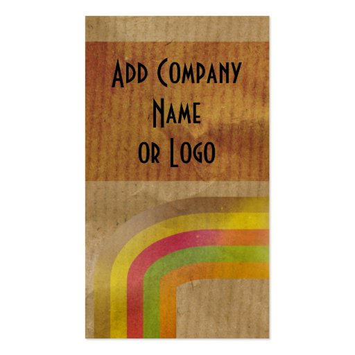 Brown Paper Business Card