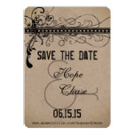 Brown Paper Wedding Save the Date Custom Invites