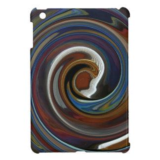 Brown Patchwork Swirl iPad Mini Case