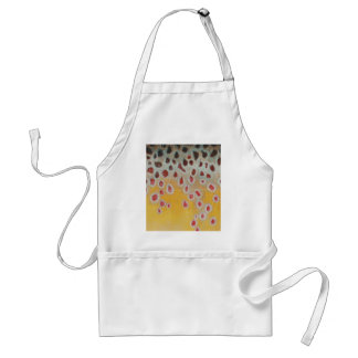 Brown pattern adult apron