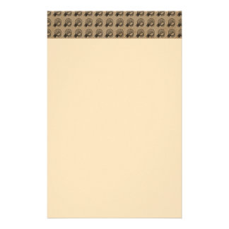 BROWN PATTERN BASKETBALL HOOPS SPORTS TEMPLATES CU STATIONERY