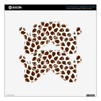 Brown Pattern PS3 Controller Decal