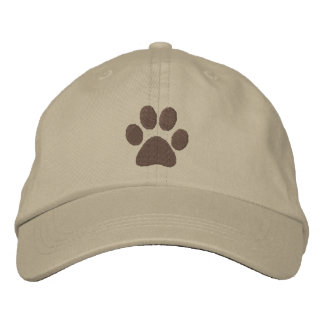 Brown Paw Embroidered Hats