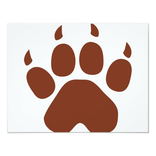 brown paw icon card