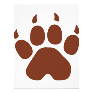 brown paw icon flyer