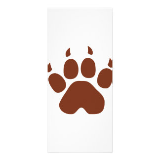 brown paw icon rack card