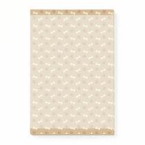 Brown Paw Print Bone Pattern Post-it Notes