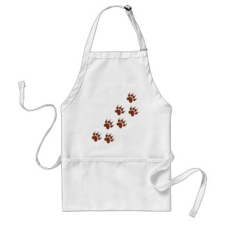 brown paws icon adult apron