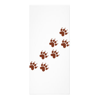 brown paws icon rack card