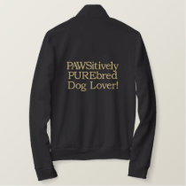 Brown PAWSitively PUREbred Dog Lover Embroidered Jacket