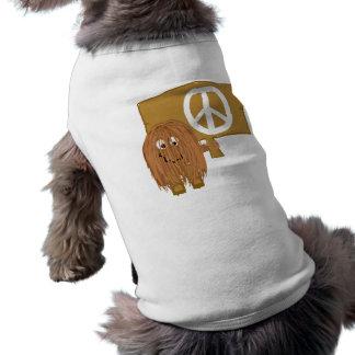 Brown Peace Dog T-shirt