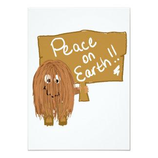 brown peace on earth card