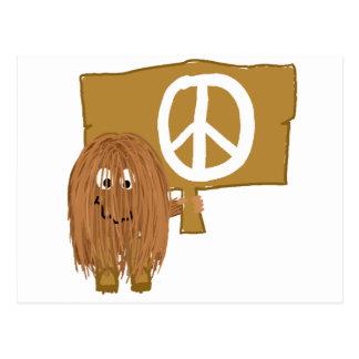 Brown Peace Postcard