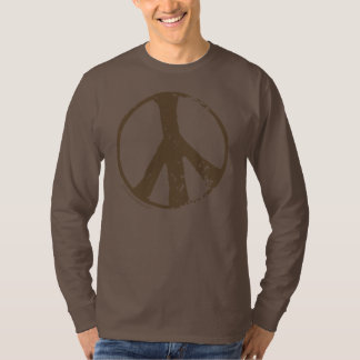 Brown Peace Sign T Shirt