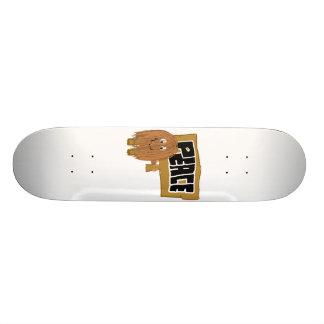 Brown Peace word Skateboard