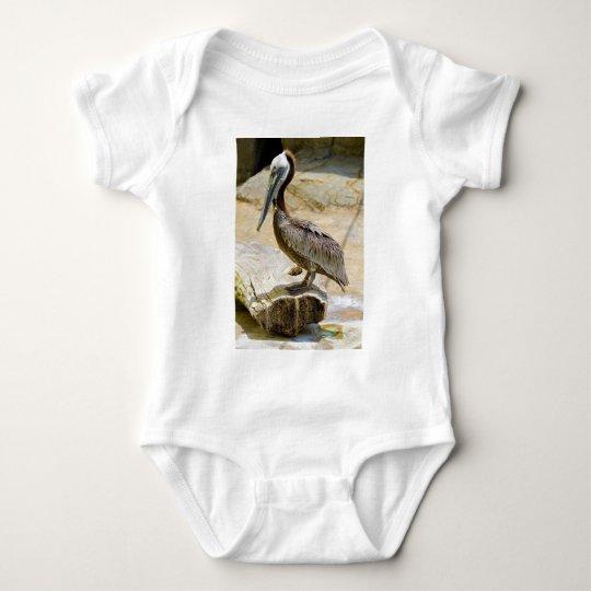 Brown Pelican Baby Bodysuit