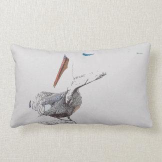 Brown Pelican Bird Harbor Wildlife Throw Pillow
