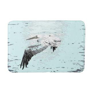 Brown Pelican Bird Wildlife Animal Beach Bath Mat