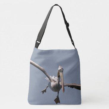 Beach Themed Brown Pelican Bird Wildlife Animal Flying Tote Bag
